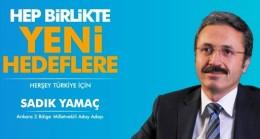 Yamaç, Ankara millet vekilliği için aday adayı